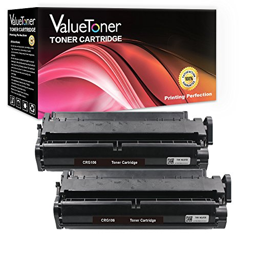 ValueToner Compatible Toner Cartridge Replacement for Canon 106 High Yield (2 Black Toners) 0264B001AA Compatible with ImageClass MF6530 MF6540 MF6550 MF6560 MF6580 MF6590 MF6595 MF6595cx Printer