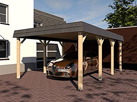 CarPort tejado Assen VII 400 x 600 cm estructura de madera maciza Kvh abeto nuevo: Amazon.es: Jardín