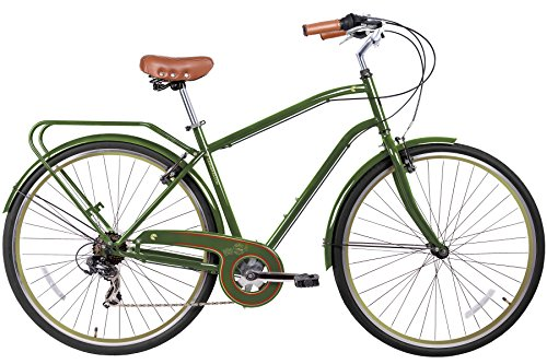 Gama Bikes Men's Cruiser Step-Thru 7 Speed Shimano Hybrid Ur