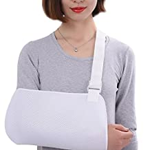 Genmine Breathable Mesh Dislocated Arm Slings Shoulder Immobilizer Rotator Cuff for Broken Wrist Elbow Support for Men or Women