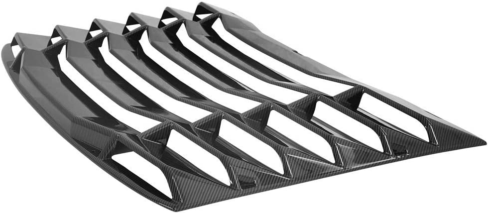2017 2018 IKON MOTORSPORTS Window Louvers Compatible With 2016-2020 Chevy Camaro IKON Style Carbon Fiber Print Rear Window Scoop Cover Sun Shade