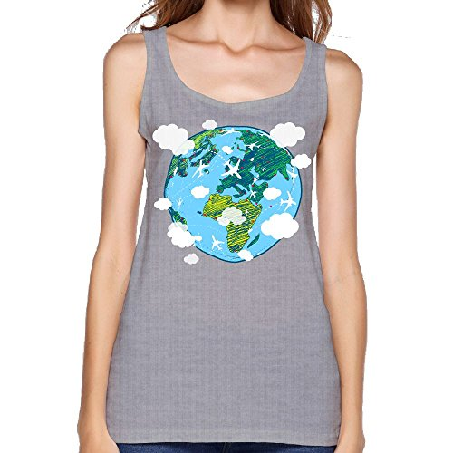 (Women's Earth Environmental Protection Casual Sleeveless Vest Novelty Tank Tops Graphic Tee)