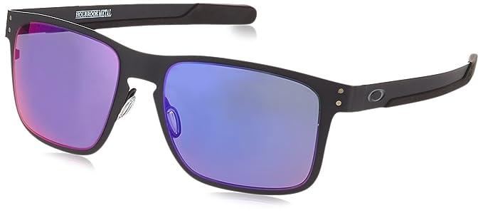 Óculos de Sol Oakley Holbrook Metal OO4123 Preto Fosco Lente Vermelho  Iridium b632a32ac75