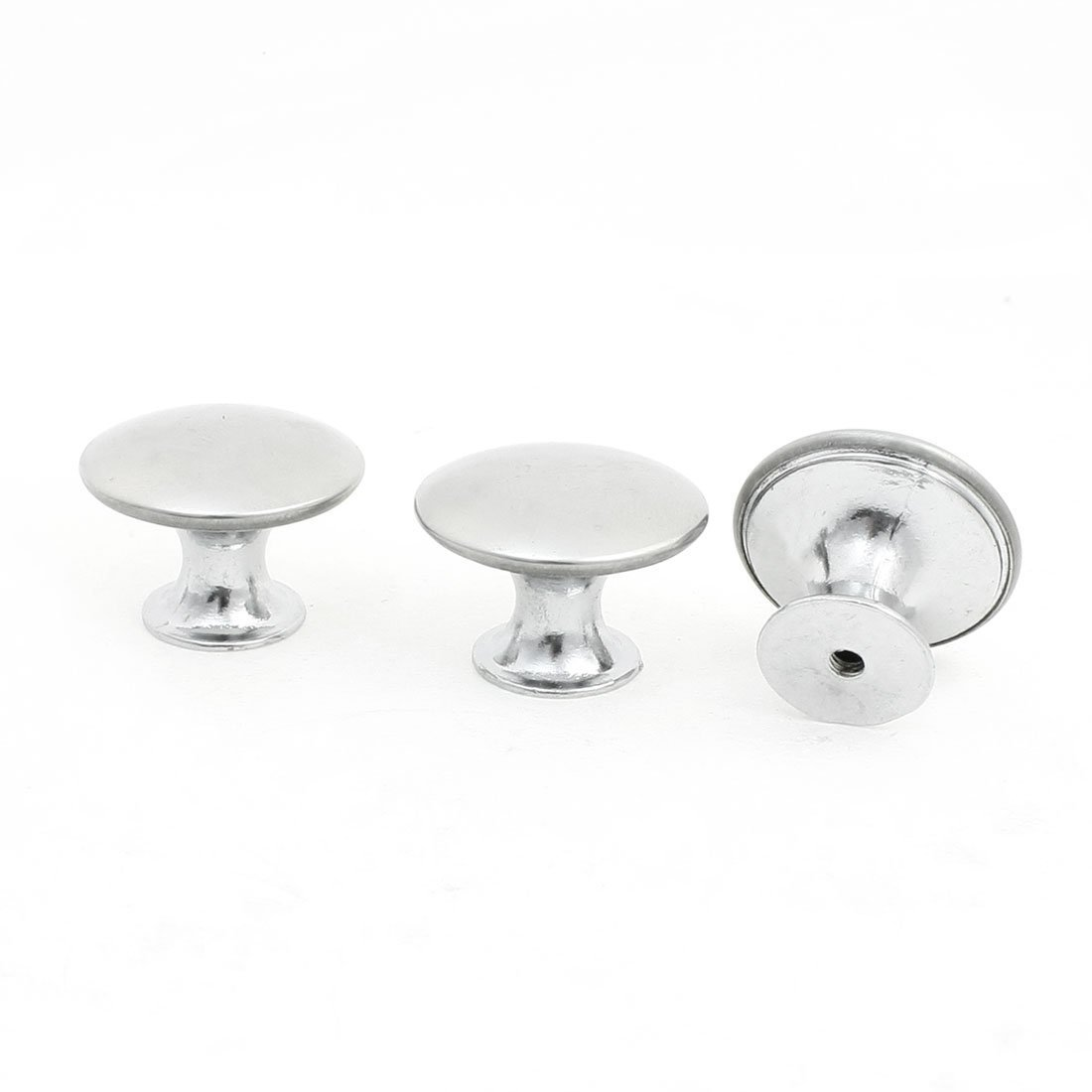 3x Drawer Fitting 1.1' Dia Pull Handle 304 Stainless Steel Round Knob Sourcingmap a13100400ux0826