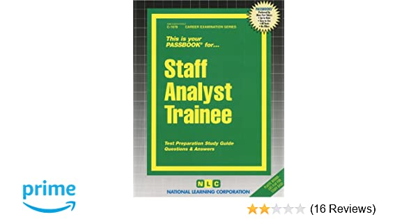 staff analyst trainee passbooks passbooks 9780829316780 amazon rh amazon com