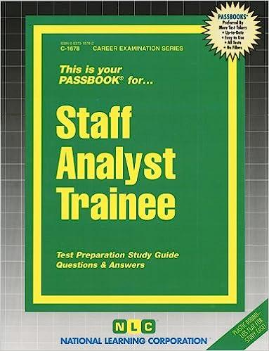 Staff analyst trainee passbooks passbooks 9780829316780 amazon staff analyst trainee passbooks passbooks 9780829316780 amazon books fandeluxe Gallery