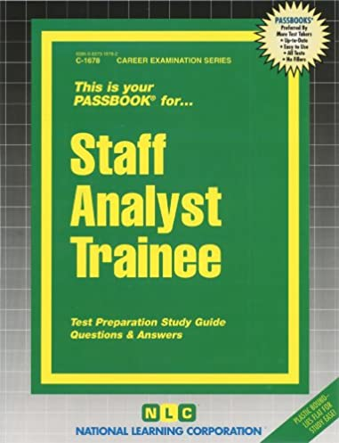 staff analyst trainee passbooks passbooks 9780829316780 amazon rh amazon com NYC Staff Analyst Trainee