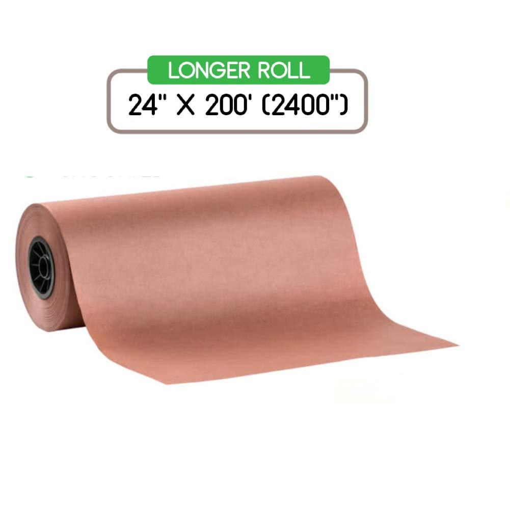 Pink Butcher Kraft Paper Roll Peach Wrapping Paper for Beef Briskets, BBQ Meat Smoking USA Made, All Natural FDA Approved Food Grade, Unbleached, Unwaxed, Uncoated Sheet (24'' x 200' (2400''))