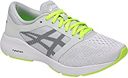 Asics Womens Roadhawk Ff Sneaker, Glacier Greyblacksafety Yellow, Size 5