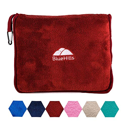 Soft Travel Blanket with Carry Case in Six Colors