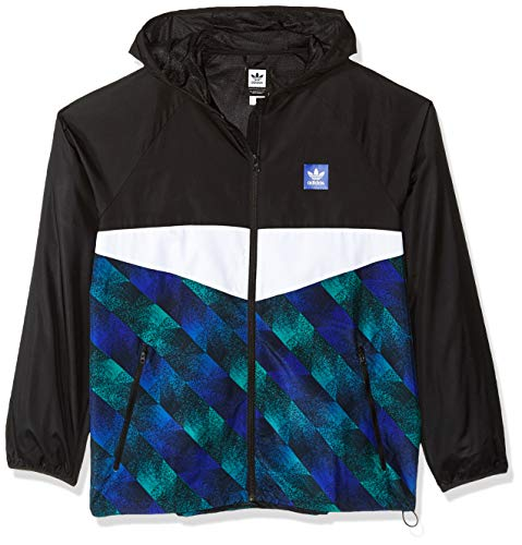 - adidas Originals Men's Towning Jacket, Black/White Blue/Active Green, XX-Large