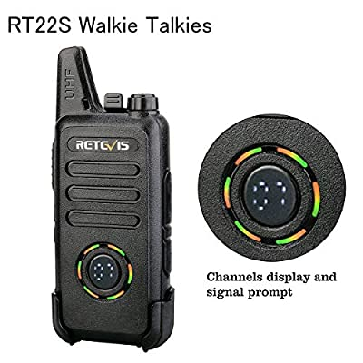 Retevis RT22S Walkie Talkies Rechargeable FRS VOX 22 Ch Alarm Lock Channel Signal Display Security Two Way Radio for Adults(2 Pack): Car Electronics