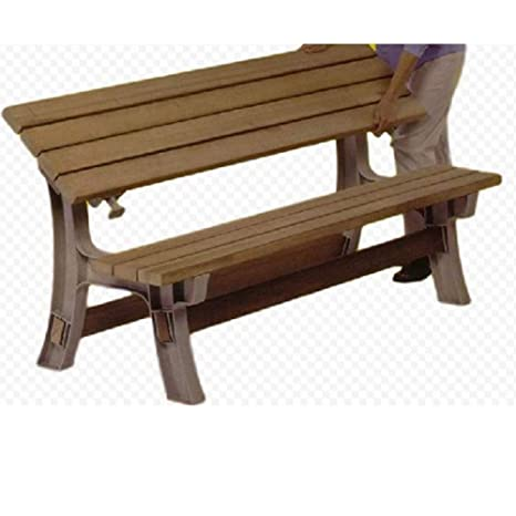 Tremendous Amazon Com Gt Outdoor Convertible Bench Patio Bench Caraccident5 Cool Chair Designs And Ideas Caraccident5Info