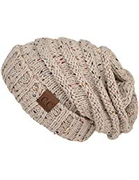 FunkyJunque C.C. Trendy Warm Oversized Chunky Soft Oversized Cable Knit Slouchy Beanie