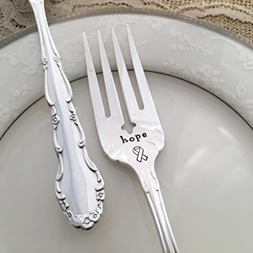 "hope: ribbon vintage hand stamped fork. By Lorelei Vella, ""flirtation"""