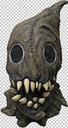 Fanged Sack Monster Scary Scarecrow Latex Halloween Horror Head And Neck Mask -