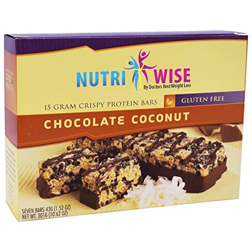 NutriWise - Chocolate Coconut Crispy Diet Protein Bars (7 bars) by NutriWise
