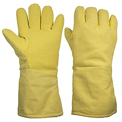 """ThxToms 932°F Heat Resistant and Level 4 Cut Resistant Kevlar Work Gloves 15"""" , 1 Pair"""