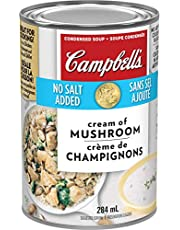 Campbell's, No Salt Added Cream of Mushroom Soup, 284 mL (Packaging May Vary)