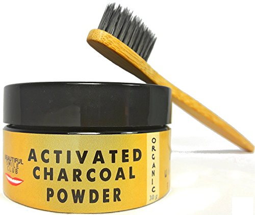 Activated Charcoal Teeth Whitening Powder | With Bamboo Charcoal Toothbrush | 2 Months Supply (30 Gram)