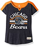 "NFL Girls 7-16 ""Tribute"" Football Tee -Deep Obsidian-S(7-8), Chicago Bears"