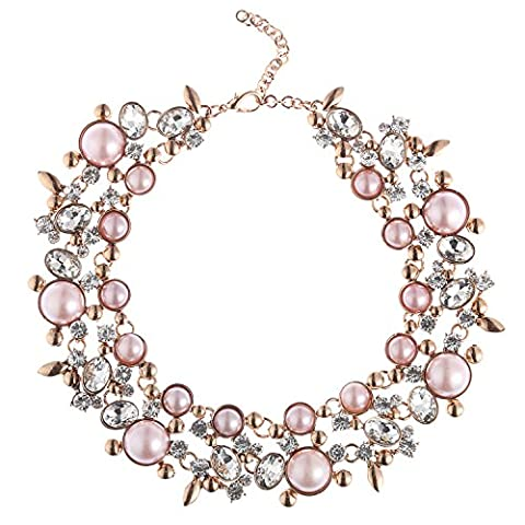 Costume Jewelry for Women Statement Necklace Pink 1 PC with Holylove Gift Box (Womens Chunky Jewelry)