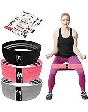 SAWANS taśmy oporowe, opaska oporowa na nogi i żłobienia, zawiera książeczkę treningową z opaską treningową, antypoślizgowa opaska na łusek dla kobiet i mężczyzn kółko biodrowe, napinacz na plecy (różowy, średni)