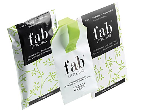 Fab Little Bag Sealable One Handed Tampon Disposal Bag 26g (Pack of 12) by FabLittleBag (Image #5)
