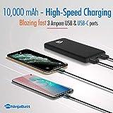 NinjaBatt PowerPal 10000mAh Power Bank, 18W PD