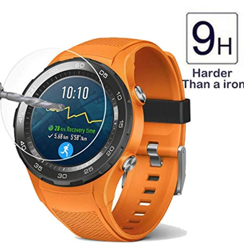 Tempered Glass for Huawei Watch 2 Smartwatch - [2PACK] High Clear Protective Film Screen Tempered Glass for huawei Watch 2 2018 Watch 2