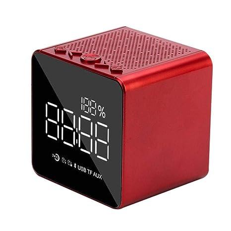 CatcherMy Reloj Despertador Digital Alarma con Altavoz Bluetooth, Despertador Infantil con luz LED Pantalla Extra