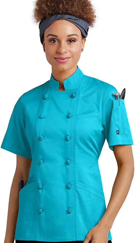 Women's Chef Coat with Knotted Cloth Buttons