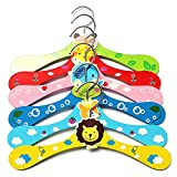 1 pcs Colorful Cartoon Animal Children Hanger Infant Kid Wooden Coat Clothes Hooks Living Room Bathroom Supplies 6Colors 1Pcs