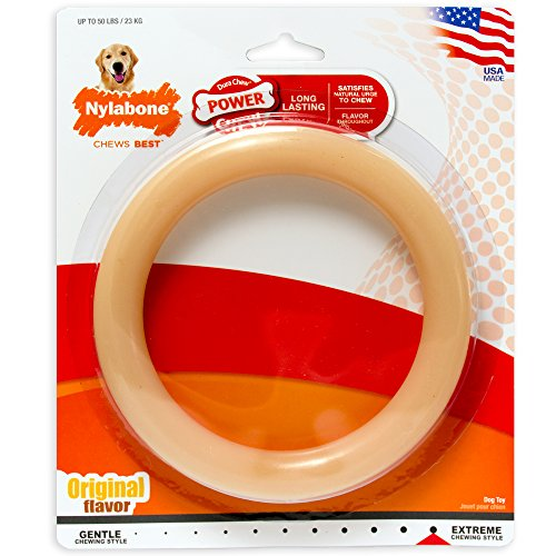 Original Flavor Durable (Nylabone Giant Original Flavored Ring Bone Dog Chew Toy)