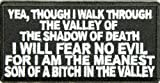 Valley Of The Shadow Of Death Patch - By Ivamis Trading - 4x2 inch