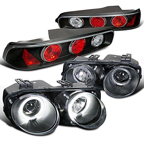 - Acura Integra Coupe Black Halo Projector Headlights+Tail Brake Lights