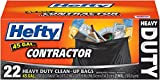 Hefty Contractor Heavy Duty Trash/Garbage Bags (Twist Tie, 45 Gallon, 22 Count, Pack of 4)