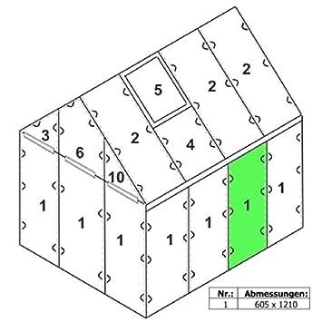 """Ordentlich Zelsius - 6 mm Hohlkammerstegplatte """"#1"""" (121 x 60,5 x 0,6 cm) für  PT44"""