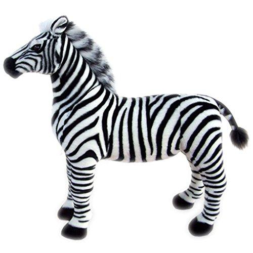 JESONN Stuffed Animals Toys Horse Plush 12 Inch (Zebra) ()