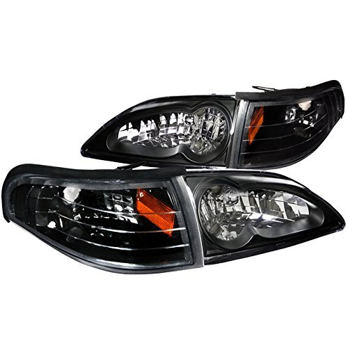 Spec-D Tuning 2LCLH-MST94JM-RS Headlight (Combo Black Housing With Corner Light)