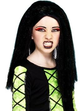 Peluca de bruja para niña ideal para Halloween