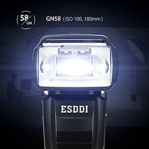 ESDDI Flash Speedlite for Canon and Nikon