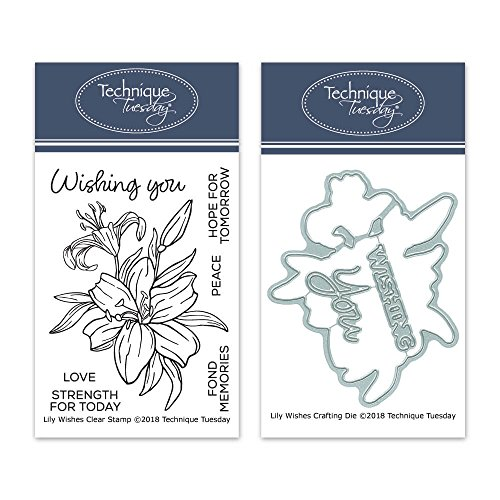 - Lily Wishes Clear Stamps with Matching Metal Dies | Flowers Rubber Stamps | Clear Rubber Stamps | Photopolymer Stamps | Die Cuts | Craft Dies | Card Making Supplies