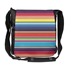 NYYSBU Crossbody Messenger Bag Colorful Mexican Blanket Stripes Shoulder Tote Sling Postman Bags One Size