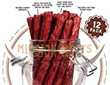 Keto Sugar Free Grass-Fed Beef Snacks Sticks Non-GMO Gluten Free MSG Free Nitrate Nitrite Free Paleo Healthy Natural Meat Sticks Beef Jerky Larger Image