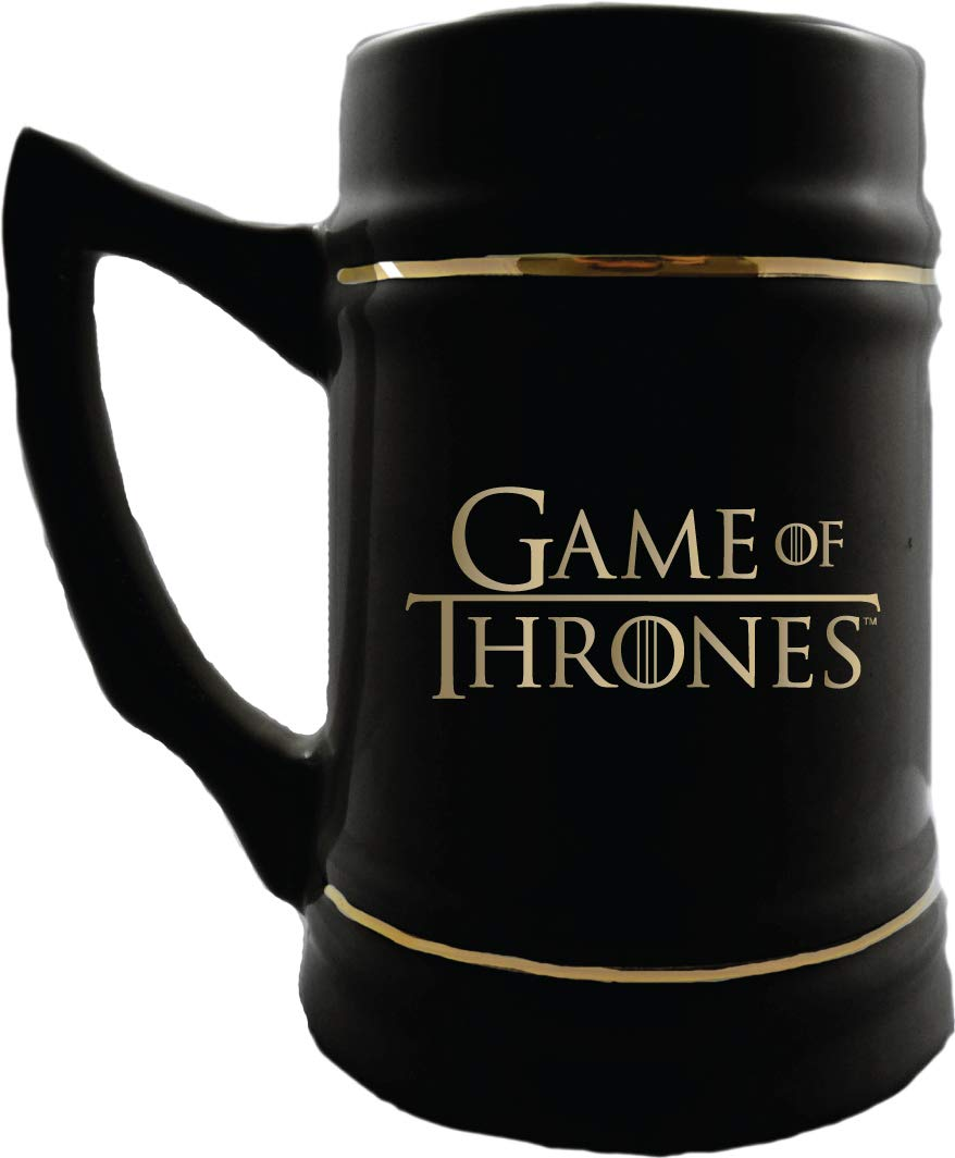 Game of Thrones Collectible Ceramic Steins – I Drink and I Know Things – 24 oz Capacity – Sturdy Mug with Handle