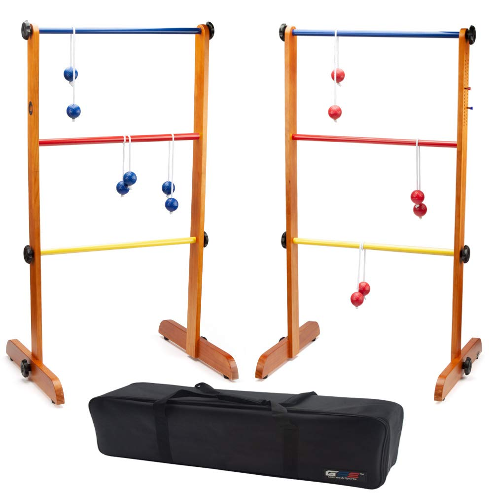 GSE Games & Sports Expert Premium Outdoor Solid Wood Ladder Golf Ball Toss Game Set by GSE Games & Sports Expert