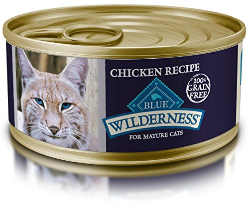 Blue Wilderness Mature Grain Free Chicken Pate Wet Cat Food 5.5-Oz (Pack Of 24)
