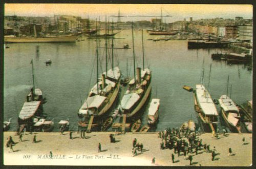 Boats Vieux Port Marseille France postcard