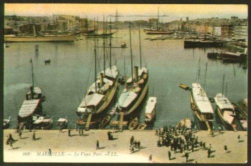Vieux Port - Boats Vieux Port Marseille France postcard